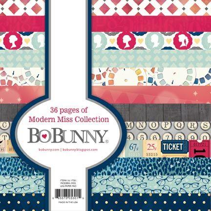 "BoBunny Modern Miss 6x6 Pad - Дизайнерски блок 6""х6"" / 36листа"