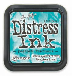 """Distress ink pad by Tim Holtz - Тампон, """"Дистрес"""" техника - Peacock Feathers"""