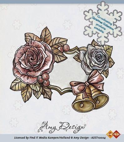 Amy Designs Stamp - Clock with Doves - прозрачни печати 9x7 cm.