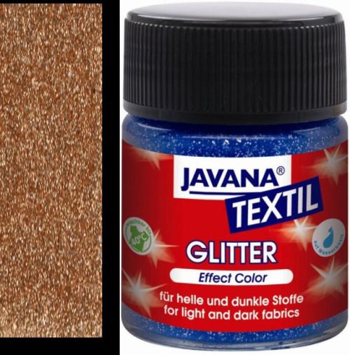 JAVANA GLITTER - Боя за рисуване върху текстил 50мл GLITTER GOLD BRONZE