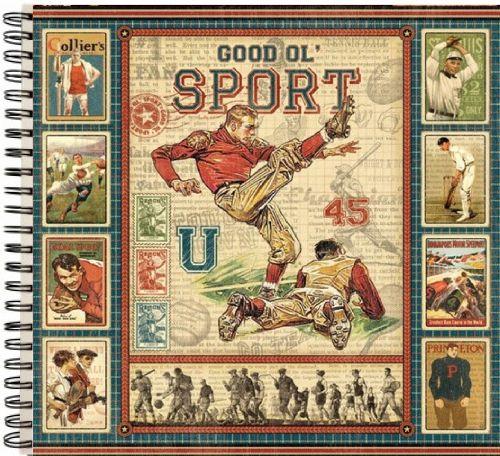 """ALBUM SCRAPBOOKING """"Good Ol' Sport"""" - Дизайнерски скрапбукинг албум 36 страници 30,5х30,5 см"""