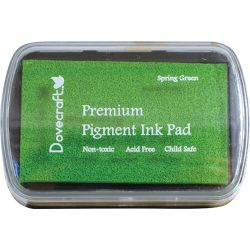 Dovecraft Pigment Ink Pad - Голям пигментен тампон SPRING GREEN - PROMO!