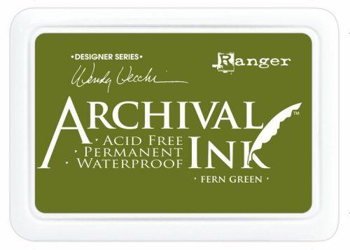 ARCHIVAL INK PAD, USA - Tампон с архивно перманентно мастило, Fern Green