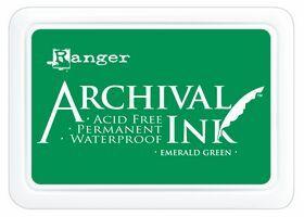 ARCHIVAL INK PAD, USA - Tампон с архивно перманентно мастило, Emerald Green