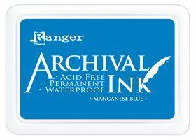 ARCHIVAL INK PAD, USA - Tампон с архивно перманентно мастило, Manganese Blue