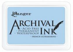 ARCHIVAL INK PAD, USA - Tампон с архивно перманентно мастило, French Ultramarine