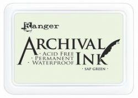 ARCHIVAL INK PAD, USA - Tампон с архивно перманентно мастило, Sap Green