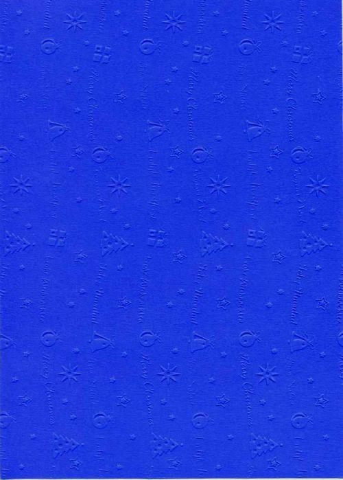 "FB EMBOSS CARD - Преге картон 230гр ""КОЛЕДНИ МОТИВИ"" 50х70см - Ултрамарин"