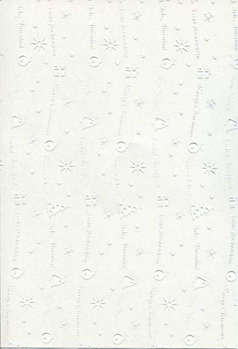 "FB EMBOSS CARD - Преге картон 230гр ""КОЛЕДНИ МОТИВИ"" 50х70см - Снежно бяло"