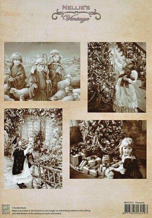 A4 DECOUPAGE Christmas Vintage  - АРТ декупажна хартия / 012