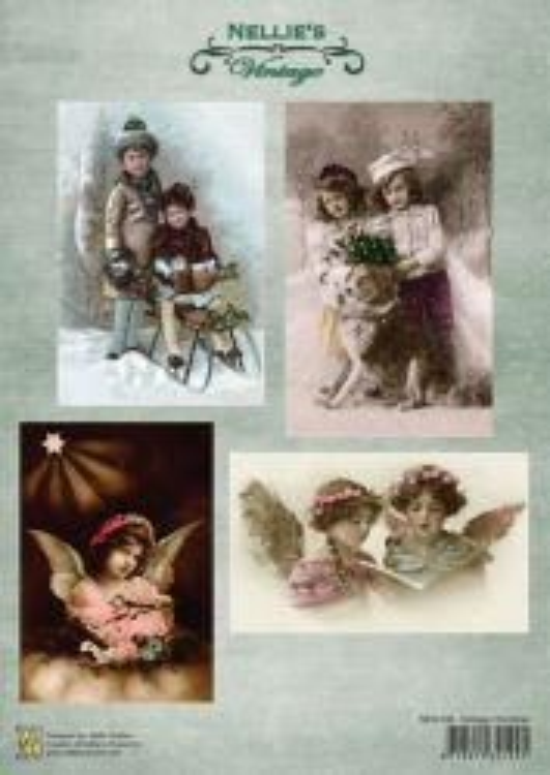A4 DECOUPAGE Christmas Vintage  - АРТ декупажна хартия  / 048
