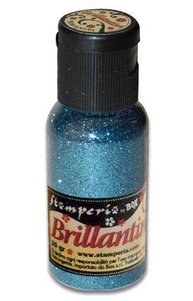 Brillantini,Stamperia -Диамантен брокат за декорация 20 гр. - Warm Light Blue