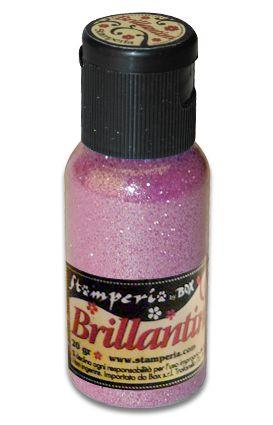 Brillantini,Stamperia -Диамантен брокат за декорация 20 гр. - Baby Pink