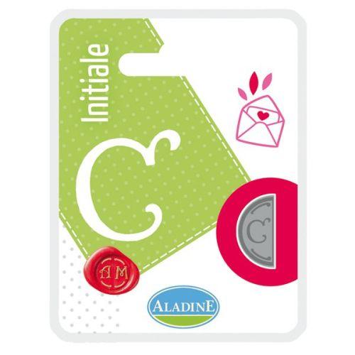 ALADINE,France -  метален печат ПОЛОВИНКА ДВУСТРАНЕН ИНИЦИАЛ  за восък  C