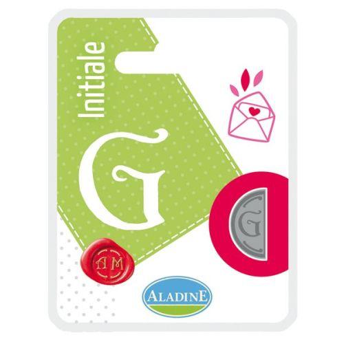 ALADINE,France -  метален печат ПОЛОВИНКА ДВУСТРАНЕН ИНИЦИАЛ  за восък  G