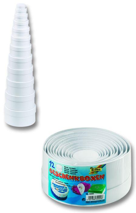 CARDBOX OVAL SET - Комплект 12 кутии за декупаж Folia,Germany - кръгли