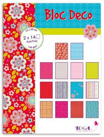 BLOC DECO BOHEME -  Дизайн блок 28sheet, 15X20