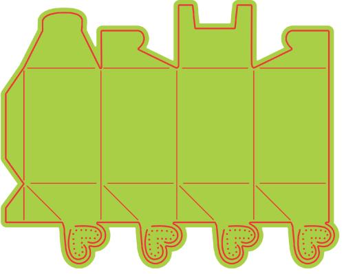 BOX Cheery Lynn ,USA - Шаблон за рязане и ембос PERFUME BOX b270