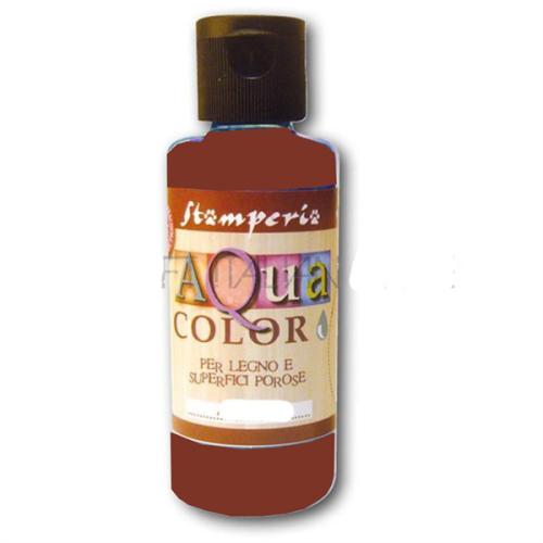 AQUA COLOR, Stamperia - ДЕКО байц за дърво и порести материали 60 ml - CHESTNUT