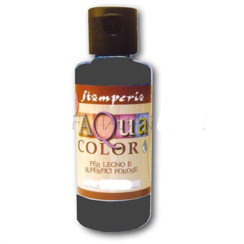 AQUA COLOR, Stamperia - ДЕКО байц за дърво и порести материали 60 ml - EBONY