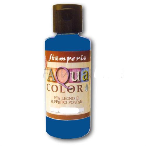 AQUA COLOR, Stamperia - ДЕКО байц за дърво и порести материали 60 ml - BLUE