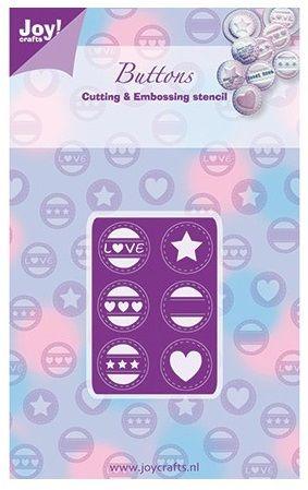JOY Crafts Buttons - Щанци за рязане и ембос 6002/0265
