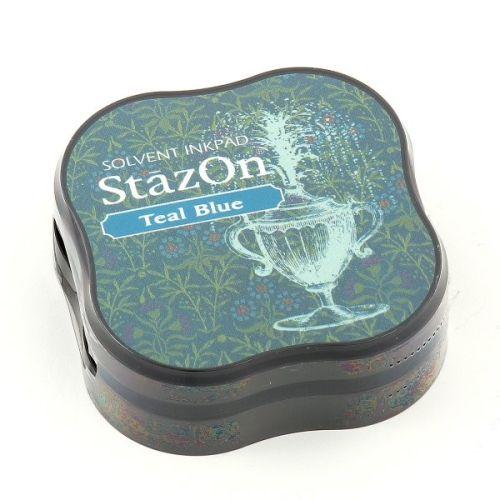 """StazOn MIDI - Тампон за всякаква твърда или гланцирана повърхност - """"Teal blue"""""""
