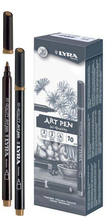 HI-QUALITY ART PEN - Висококачествен Art Pen с филцов връх - ЗЛАТО