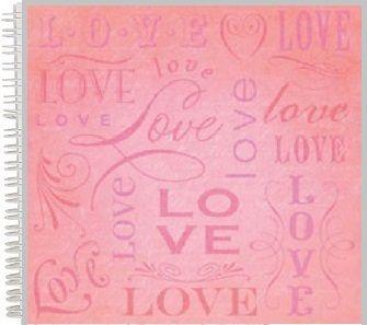 "ALBUM SCRAPBOOKING ""LOVE"" - Дизайнерски скрапбукинг албум 24 страници 30,5х30,5 см"