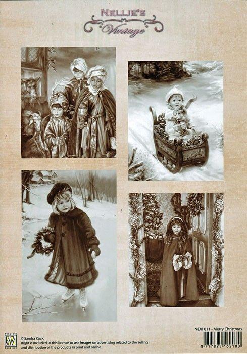 A4 DECOUPAGE Christmas Vintage  - АРТ декупажна хартия / 011