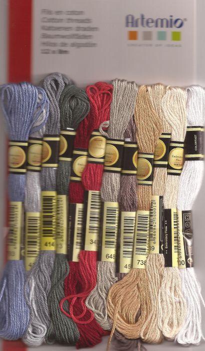 COTTON THREADS by Artemio - Комплект 12 чилета  за бродерия и плетене CHARME
