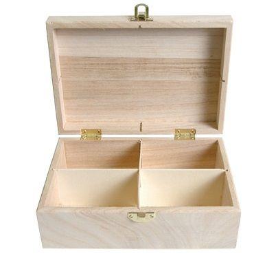 BOX by ARTEMIO TEA 1 -  Дървена кутия със закопчалка за чай, бижута и др.
