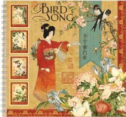 """ALBUM SCRAPBOOKING """"Bird Song"""" - Дизайнерски скрапбукинг албум 36 страници 30,5х30,5 см"""
