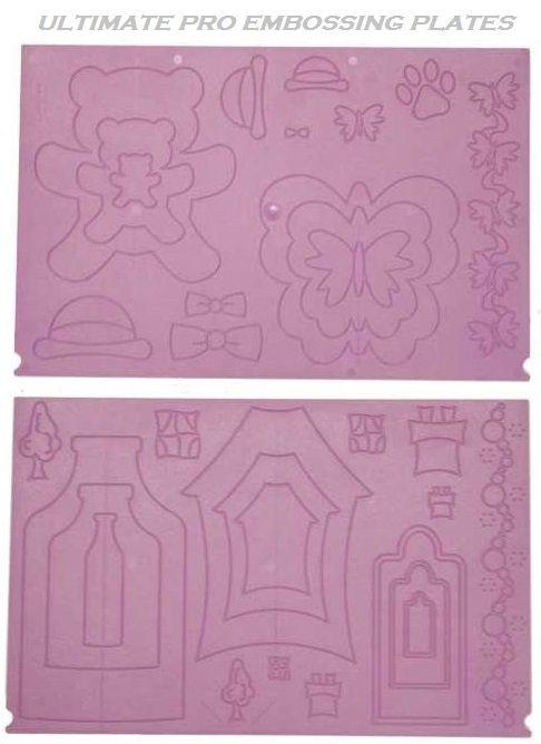 "# ULTIMATE Pro Teddy - Ембос плоча за крафтърски куфар  2 лица ""МЕЧО ПУХ"""