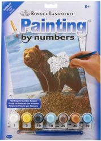 R&L USA  A4 #  GRIZZLY - Рисуване по номера  PJS82