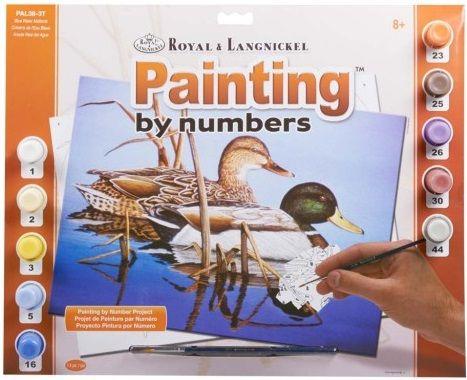R&L USA #  BLUE WATER MALLARDS - Рисуване по номера  А3- * PAL38