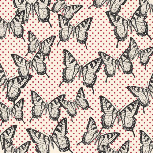JENNI BOWLIN USA # FLIGHT-BLACK - Дизайнерски скрапбукинг хартия 30,5 х 30,5 см.