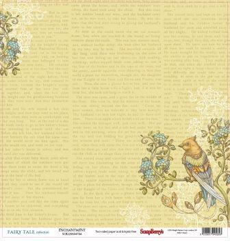 "SCRAPBERRY # FAIRY TALE - ENCHANTMENT 12X12"" 180g - Дизайнерски картон 30,5 х 30,5 см."