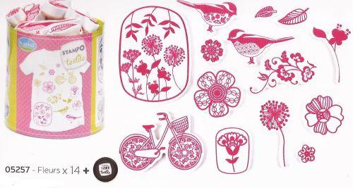 ALADINE STAMPO TEXTILE  - Комплект печати+тампон за текстил 05257