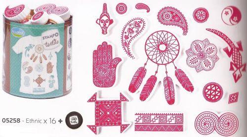ALADINE STAMPO TEXTILE  - Комплект печати+тампон за текстил 05258