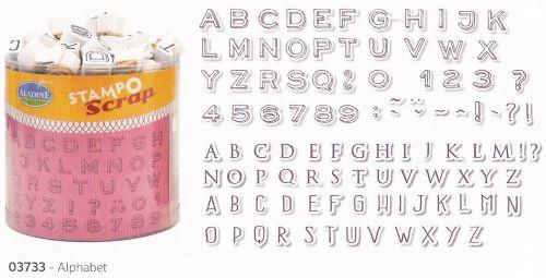 ALADINE STAMPO Scrap - Комплект гумени печати 03733