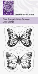 Clear stamp 5x6cm  - Дизайнерски  печат BUTTERFLY