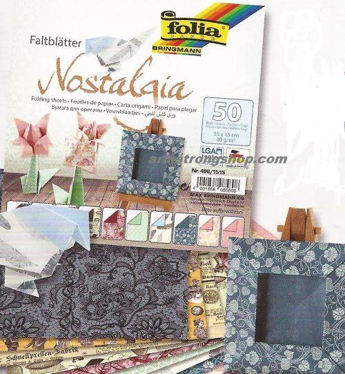 "FB  NOSTALGIA  BLOCK 6"" x 6"" - БЛОК дизайнерски хартии 50л./15х15см."