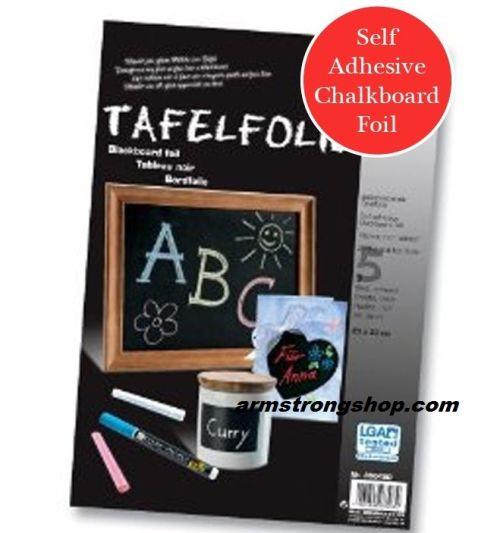 Blackboard foil 135µ 23 х 33 black, self-adhesive  - СЗЛ Черно фолио за дъска  5бр