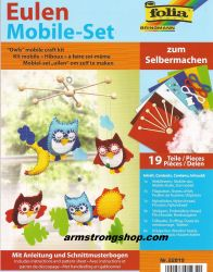 Mobile craft kit ''Owls'', 19 pieces - Folia,Germany