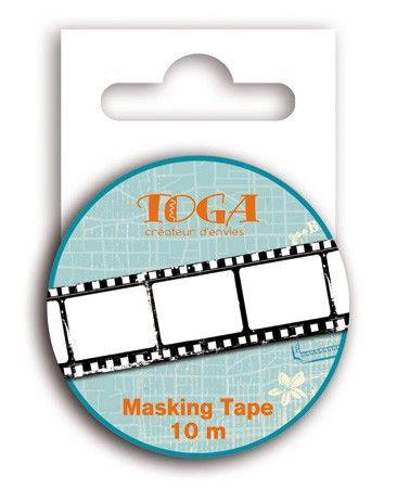 MASKING RICE TAPE - Деко тиксо 10м Х 15мм. - Negative Photo
