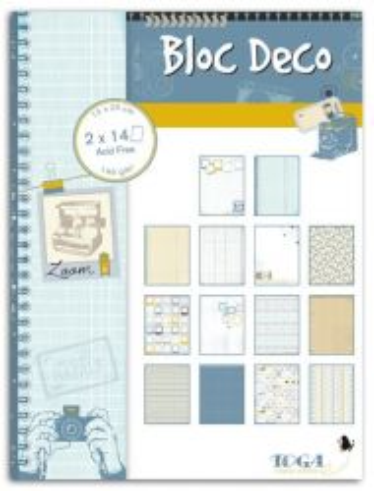 BLOC DECO PHOTOGRAPHIC -  Дизайн блок 28sheet, 15X20