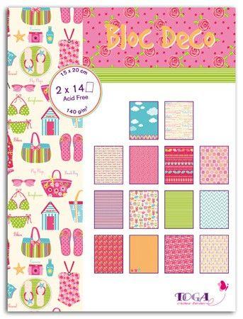 BLOC DECO BEACH GIRL -  Дизайн блок 28sheet, 15X20