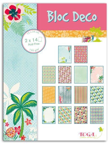 BLOC DECO WAIKIKI BEACH -  Дизайн блок 28sheet, 15X20