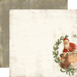 CARTA BELLA USA # CHRISTMAS DAY - Дизайнерски скрапбукинг картон 30,5 х 30,5 см.